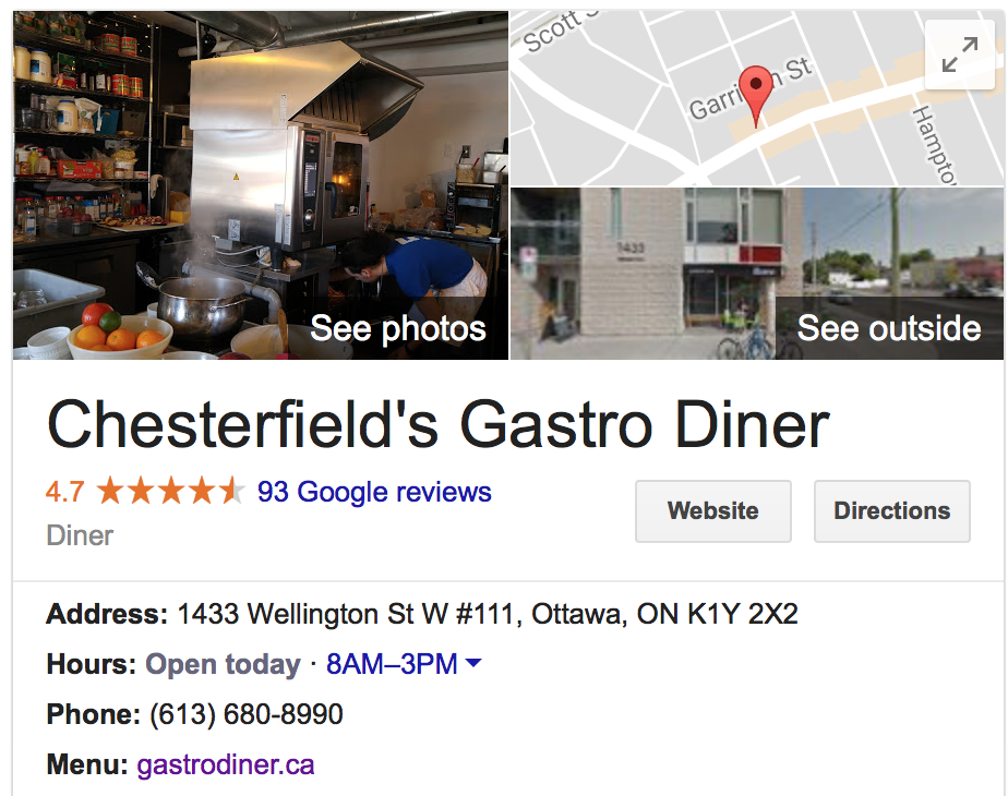 Your Google My Business profile is an essential tool in the digital marketing strategy for your Ottawa restaurant